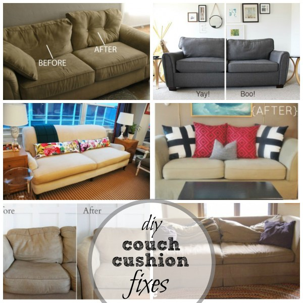 DIY Couch Cushion Fixes at Remodelaholic.com
