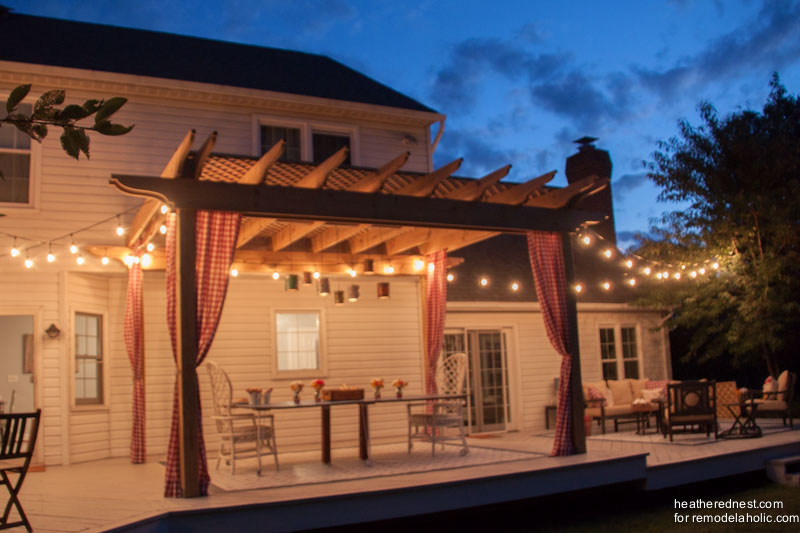 Learn How To Make And Hang The Pergola Curtains Here.
