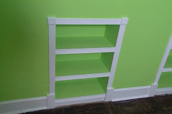recessed bookcase