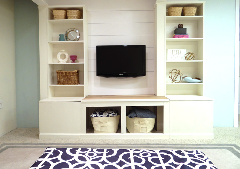 Remodelaholic Diy Built In Media Ikea Wall Unit With