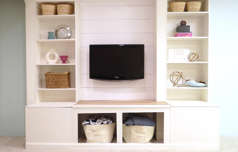 How to Make a Media Wall Unit with Extra Storage