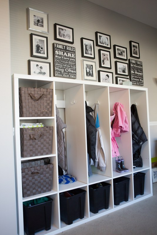 IKEA MUDROOM HACK, this is brilliant! | 100+ Beautiful Mudrooms and Entryways at Remodelaholic.com
