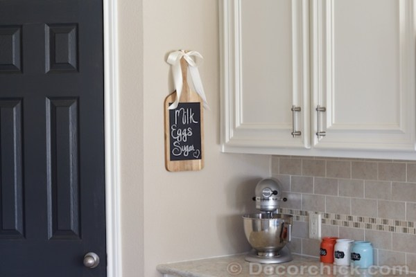 Kitchen Cutting Board Chalkboard