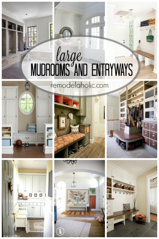 Dreamy Large Mudrooms and Entryways via remodelaholic.com
