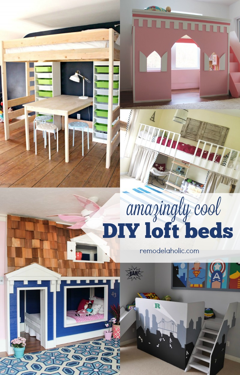 These amazing loft beds for kids will give your child extra space to play and study & Remodelaholic | 15 Amazing DIY Loft Beds for Kids