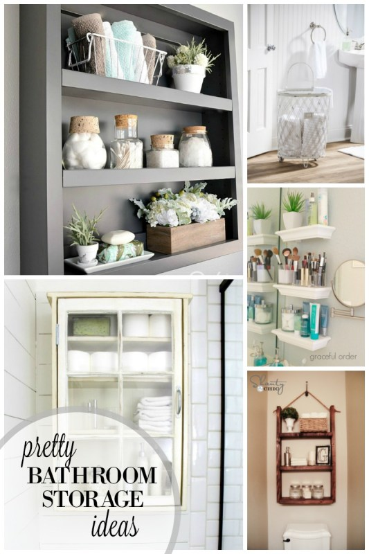 Pretty Bathroom Storage Ideas