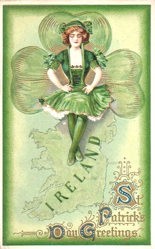 Vintage images for St. Patrick's Decorations from Sweetly Scrapped via Remodelaholic