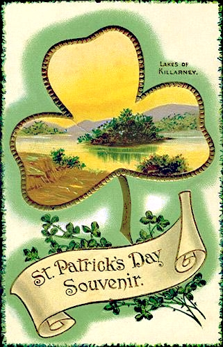 Vintage images for St. Patrick's Day decor from Sweetly Scrapped via Remodelaholic