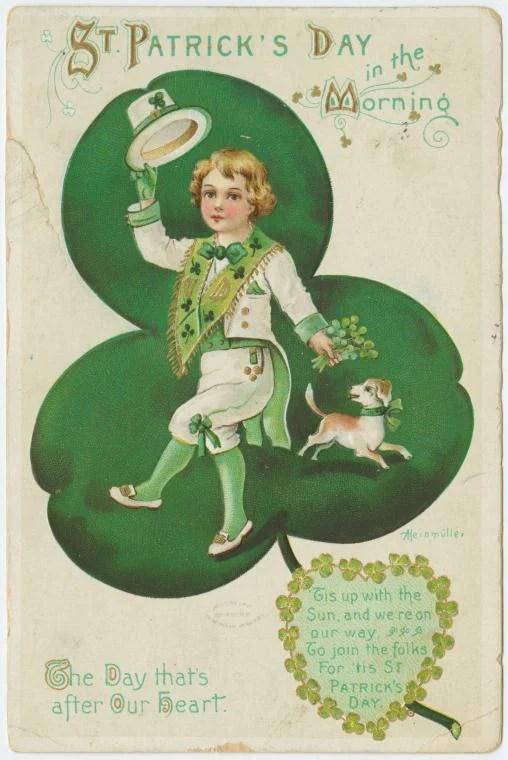 Vintage St. Patrick's printable images from Streets of Salem via Remodelaholic