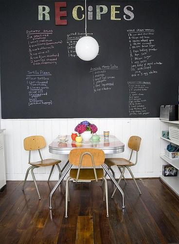 chalkboard recipe wall