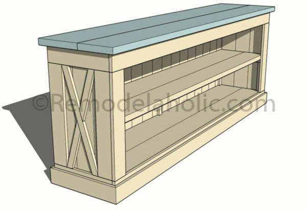 TV console sideboard table plans-1 @remodelaholic (13)