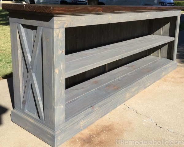 console sideboard table plans @remodelaholic.com-4