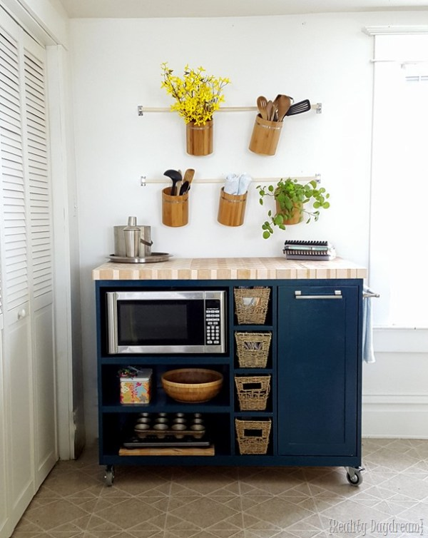 custom rolling DIY kitchen island Reality Daydream