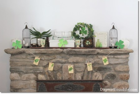 easy st patrick's day green clothesline banner DagmarBleasdale