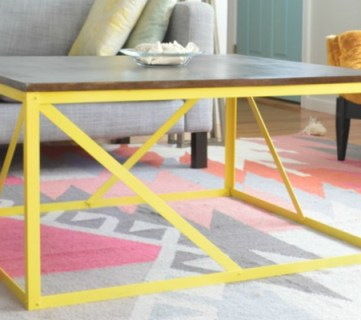 How to Build a Modern Industrial Wood and Metal Coffee Table