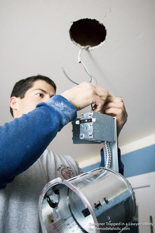 how to intall can lights with remodel housing