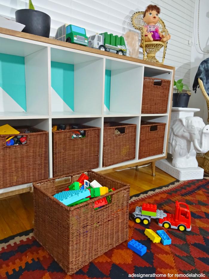 pretty kid's toy storage for DIY cheap