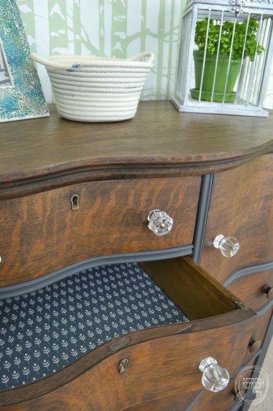 refinished antique oak dresser Refresh Living