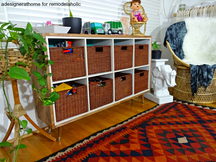 Remodelaholic Easy Ikea Hack Wood Wrapped Kallax Cube Shelf