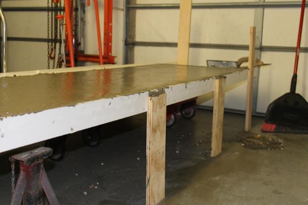 curing DIY concrete countertops