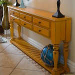 yellow console table sq