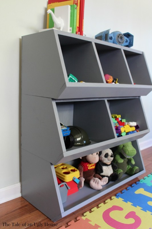How to keep your kids toys organized, DIY cubby storage toy organizer woodworking plans