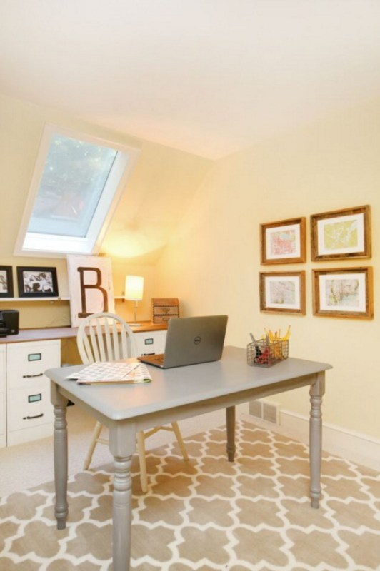 $250 Budget Home Office Makeover with DIY Filing Cabinet Desk