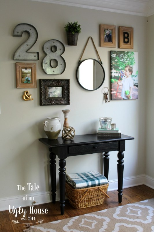 Easy gallery wall by Tale of an Ugly House featured on @Remodelaholic