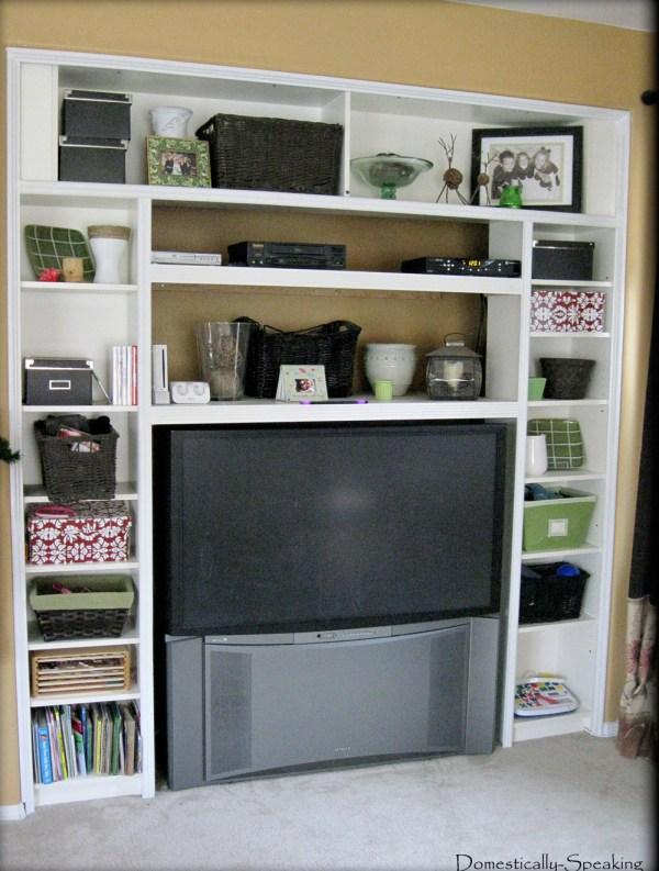 remodelaholic ikea bookcase to built in desk nook hack. Black Bedroom Furniture Sets. Home Design Ideas