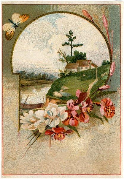 Remodelaholic 20 Free Vintage Spring Landscape Printable