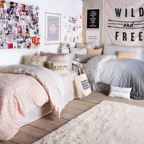 Shared Kids Space Inspiration - corner bed layout