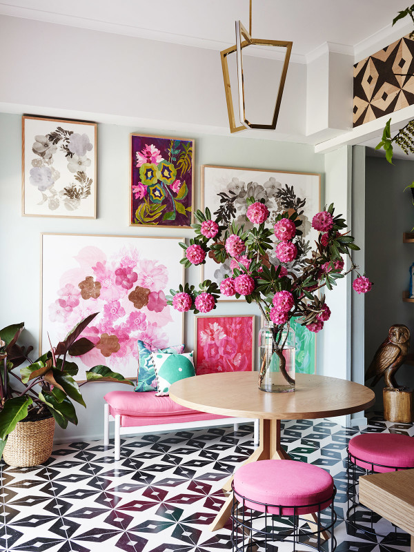 Brightened up French Floral Modern design The Design Files