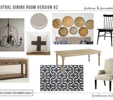 High-Low Farmhouse Dining Room Decor