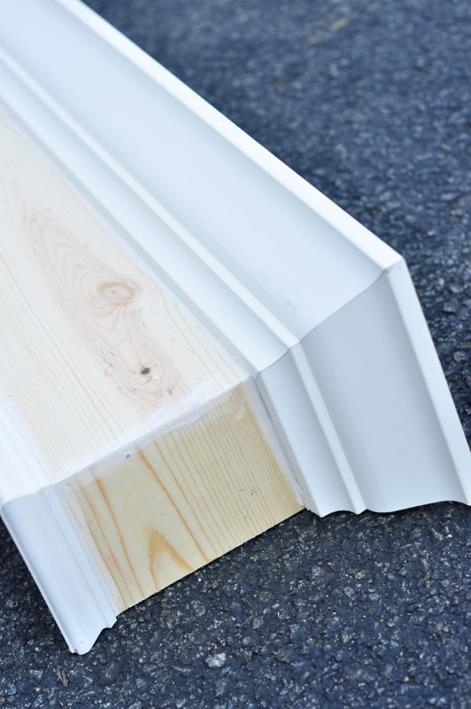 DIY Wood Window Cornice | detailed step-by-step photo tutorial to build and hang a window cornice, on Remodelaholic.com