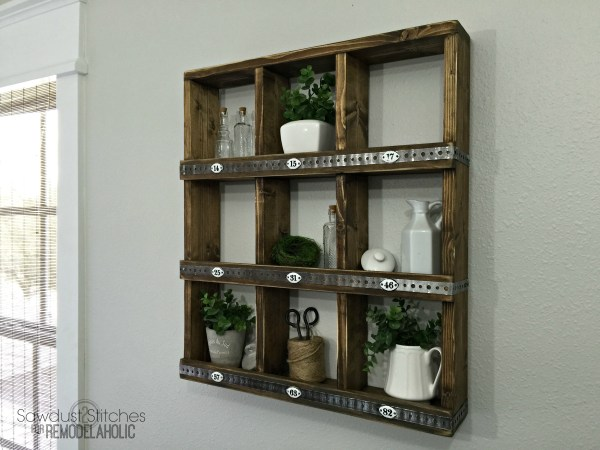 Rustic Cubby Wall Shelf