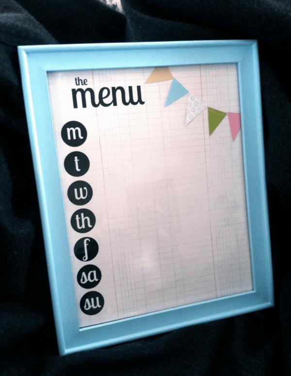 dry erase menu planner