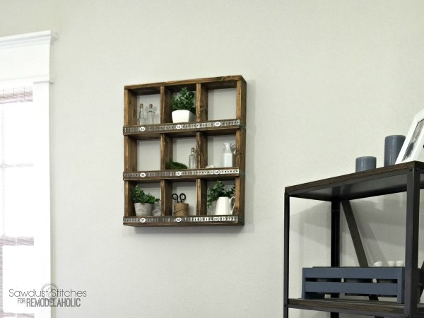 These rustic wood and metal cubbies are versatile for decor and organizing, and you can make your own DIY wall cubby shelf for around $12 with this easy tutorial! Great for beginners or first-time builders.