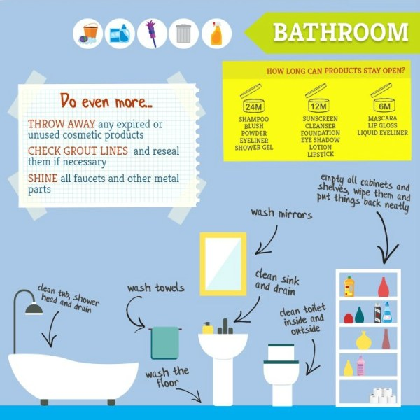bathroom spring cleaning tips
