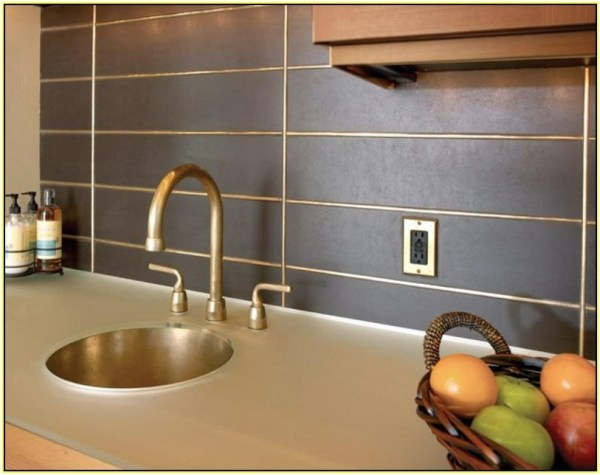 bronze-metal-tile-backsplash Eric's Health Food