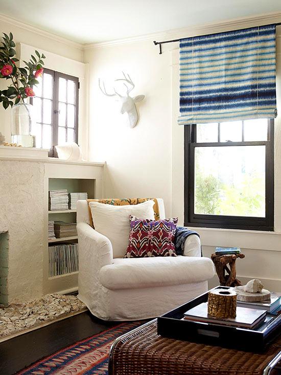 neutral modern southwest living room via BHG