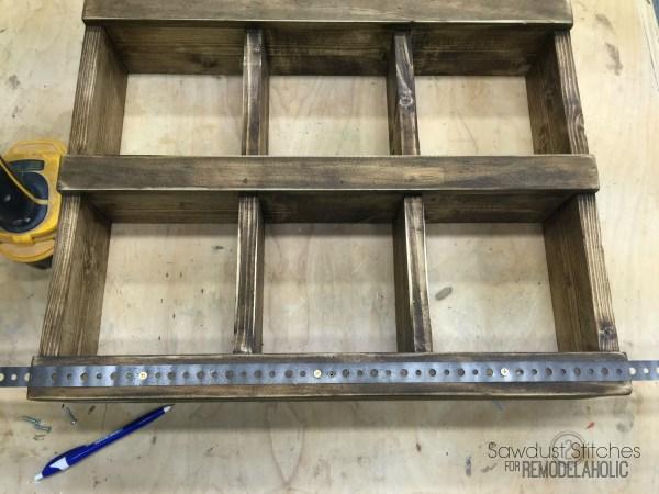Rustic DIY Wall Cubby Shelf Building Tutorial