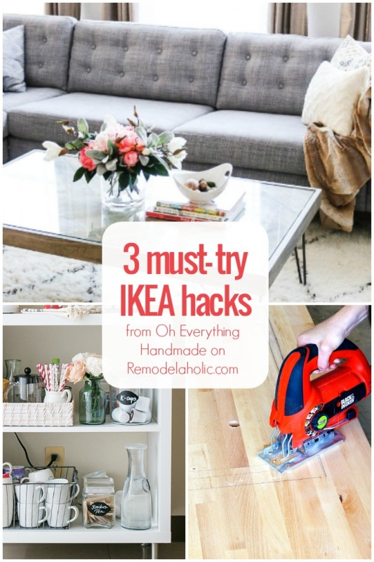 3 AMAZING must-try IKEA hacks from Oh Everything Handmade on @Remodelaholic