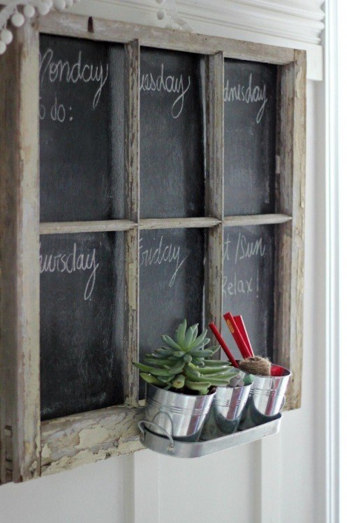 Chalkboard weekly menu planner magnolia market