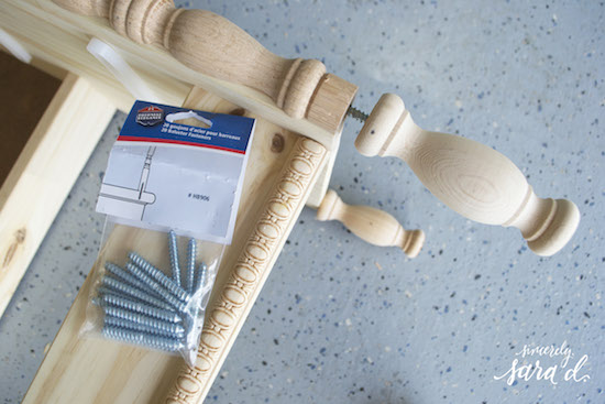 DIY inexpensive dresser legs using stair balusters, Sincerely Sara D on @Remodelaholic