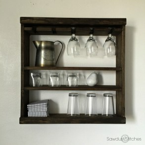 Glass Rack Shelving by Sawdust 2 Stitches