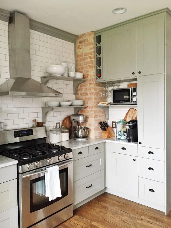 Remodelaholic Whitney S Beautiful Diy Kitchen With Ikea
