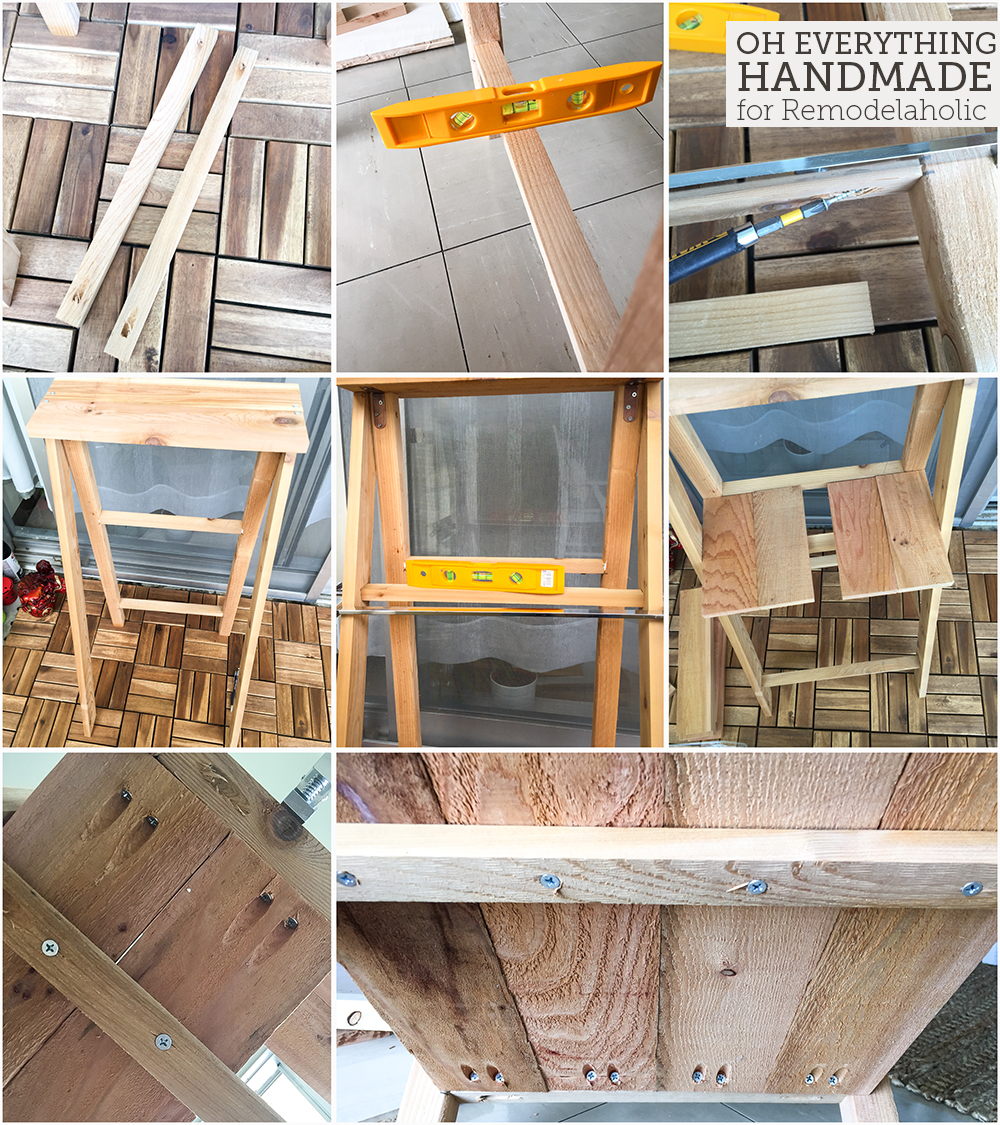 Ladder Plant Stand by OEH- Building instructions - How to attach the horizontal boards part2