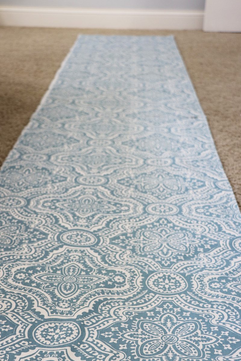 Laying out Fabric for Starched Fabric Wall