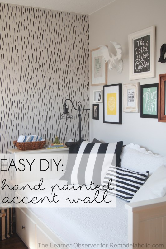 Love the look of wallpaper but not the commitment? This hand-painted brushstroke accent wall looks like expensive designer wallpaper, but only costs a bit of paint and a few hours to complete and totally transform your space.