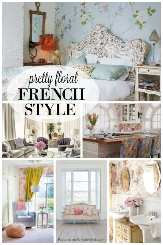 Pretty Floral French Style featured on Remodelaholic.com